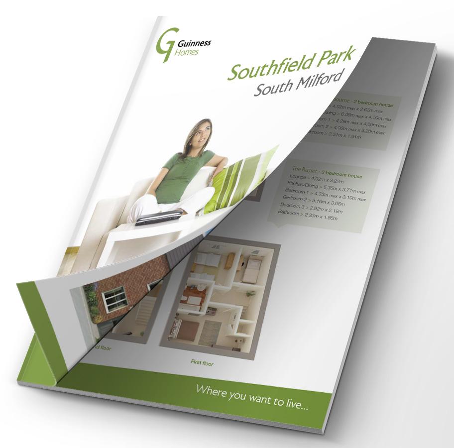guinness homes property brochure design