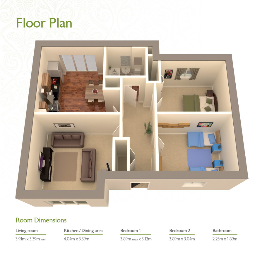 property brochure design 3d floor plan design