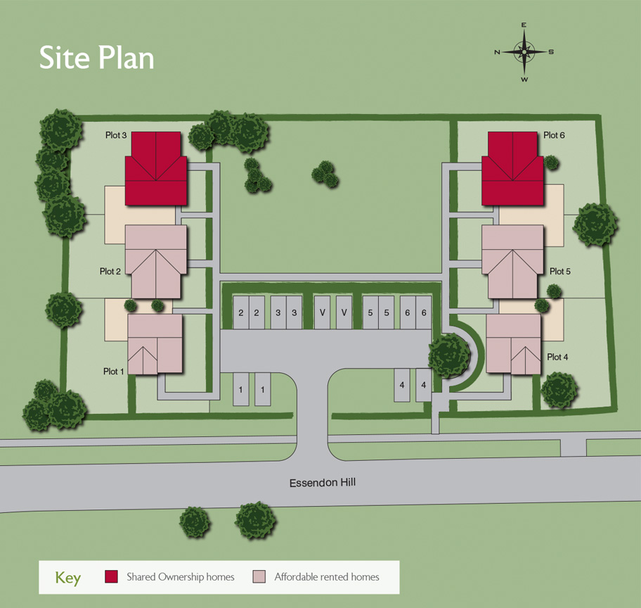 property brochure site plan design