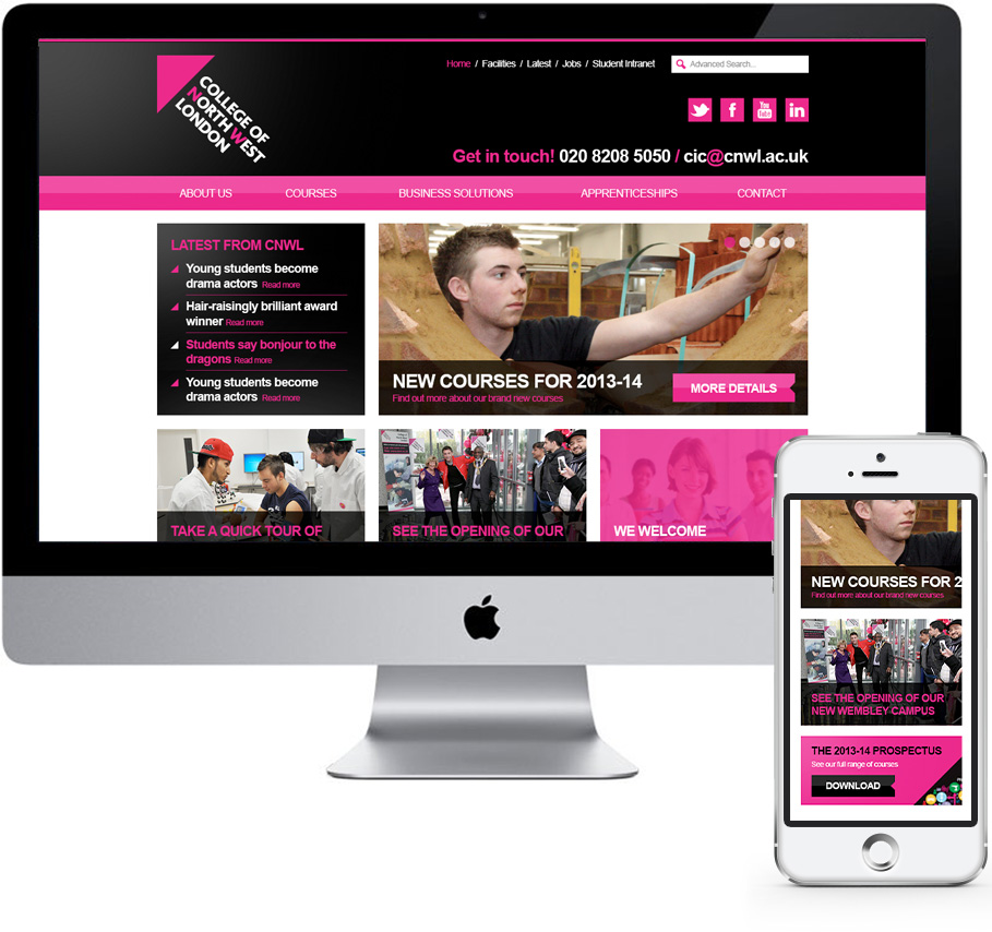 college of north west london web design