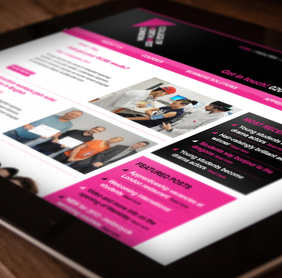 college of north west london responsive website design