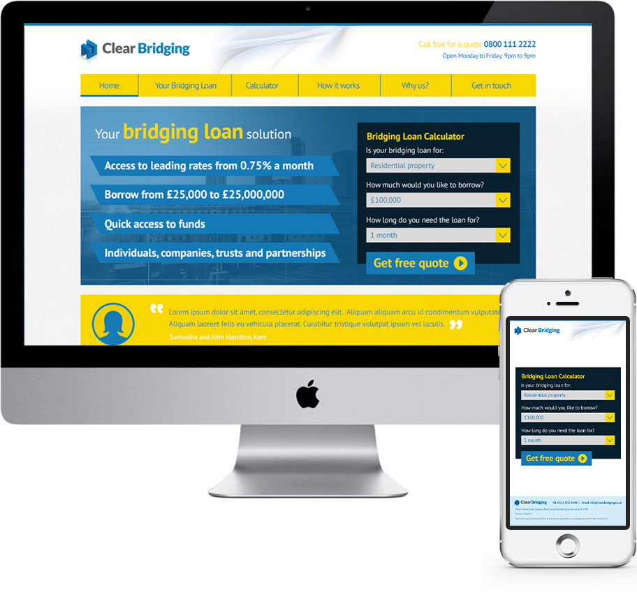 clear bridging web design