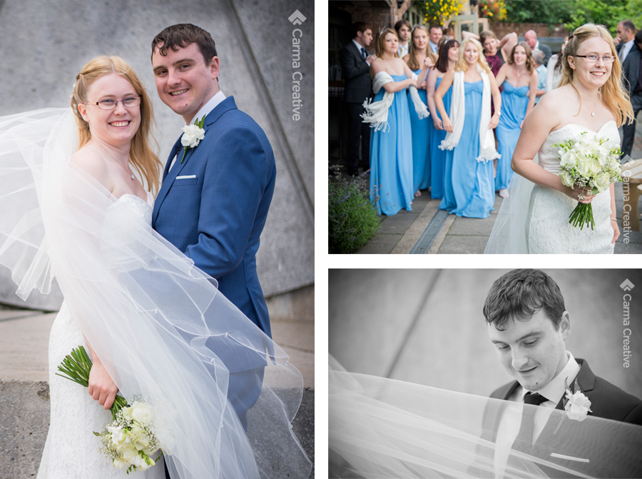 wedding photography for bride groom and bridesmaids devon