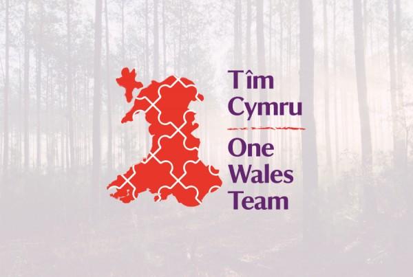 national trust one wales team logo design