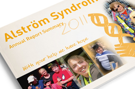 annual report design alstrom syndrome