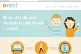 nest student lettings website design exeter