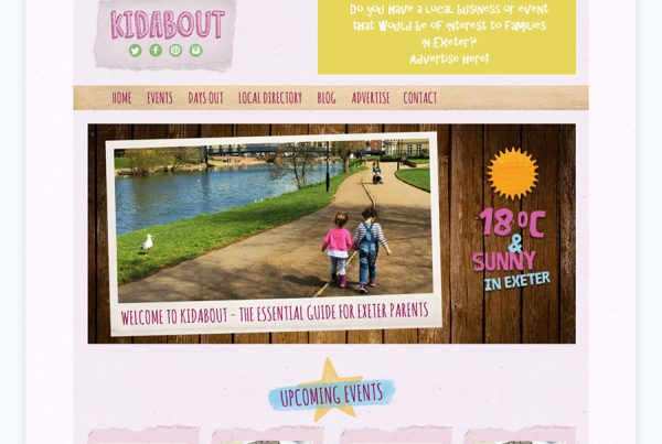 kidabout parents guide exeter devon web design