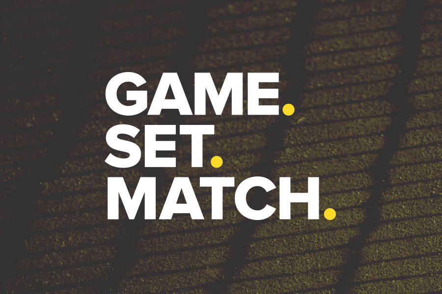 game set match tennis logo design