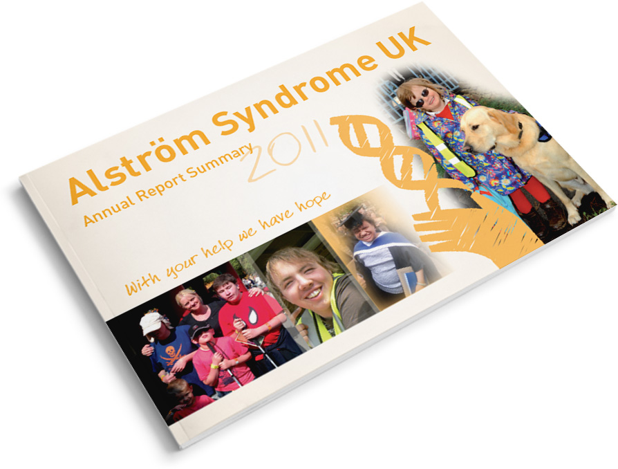 alstrom syndrome uk annual report design