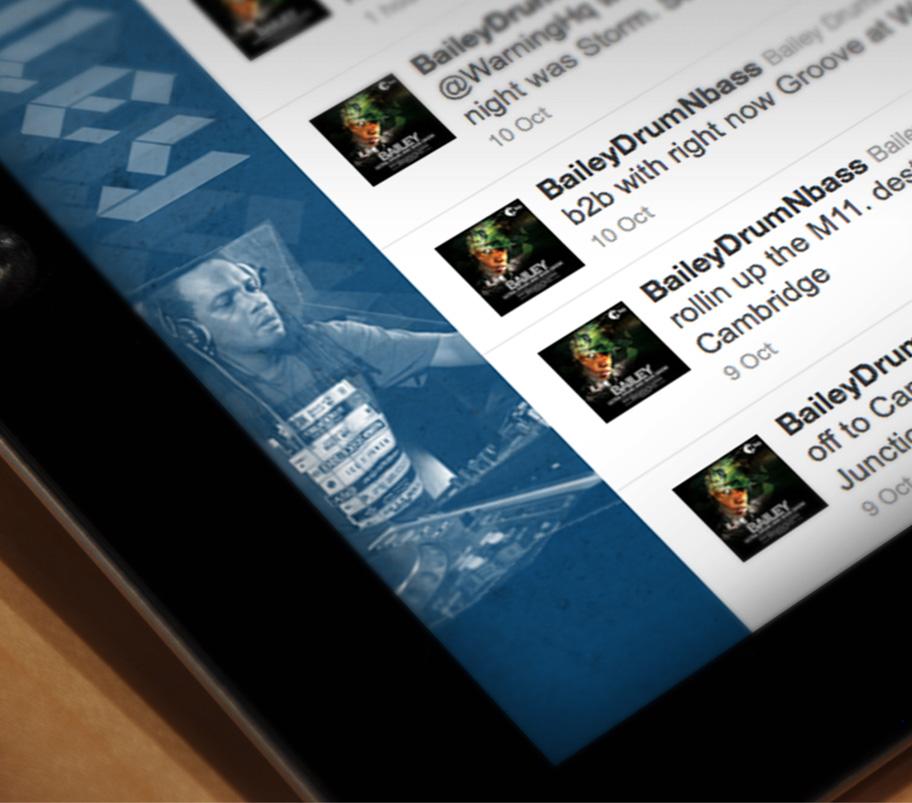 dj bailey twitter background design