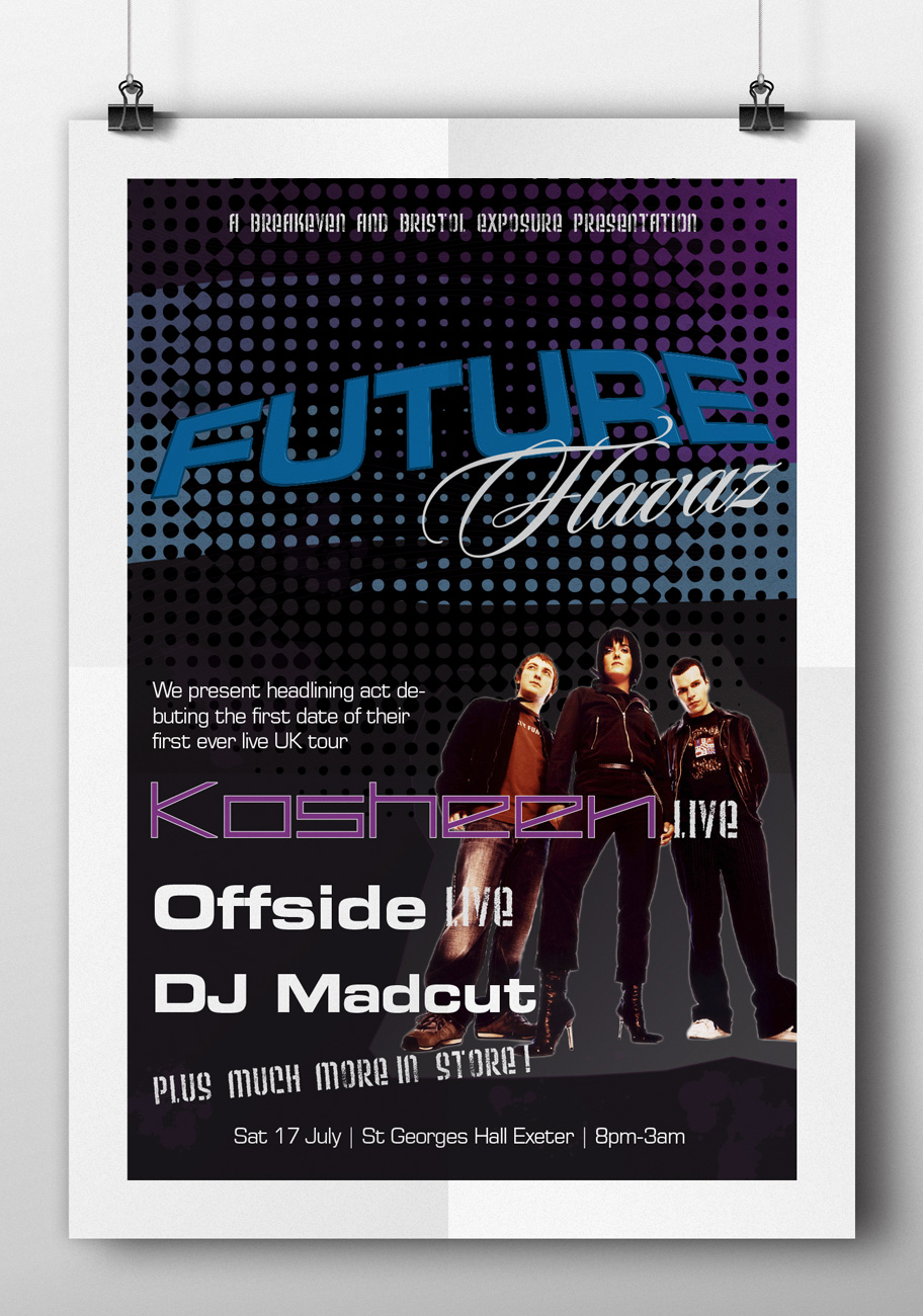 bristol exposure music flyer design