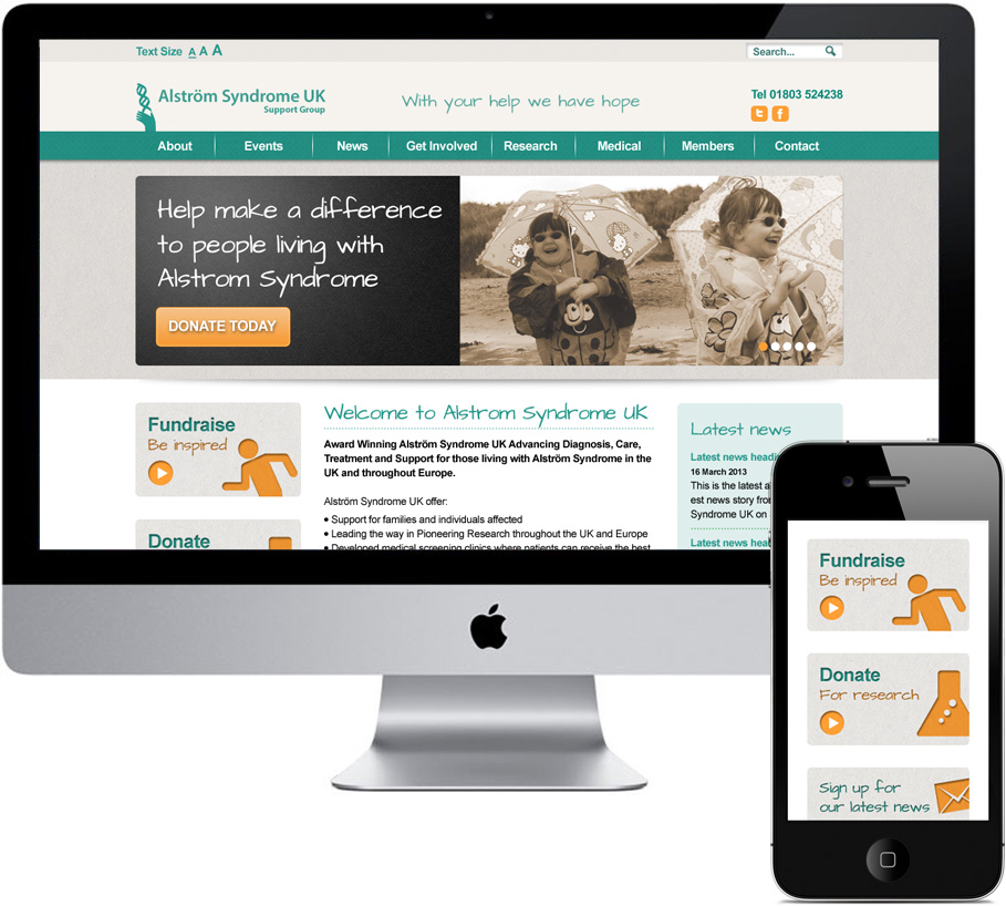 alstrom syndrome web design and development
