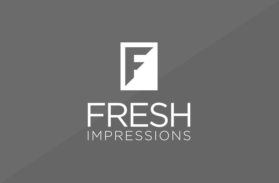 fresh impressions pr logo design