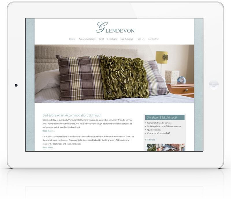 glendevon bed and breakfast responsive web design by bespoke web design