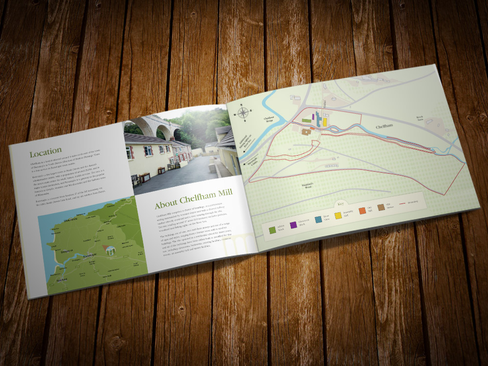 chelfham mill property brochure design