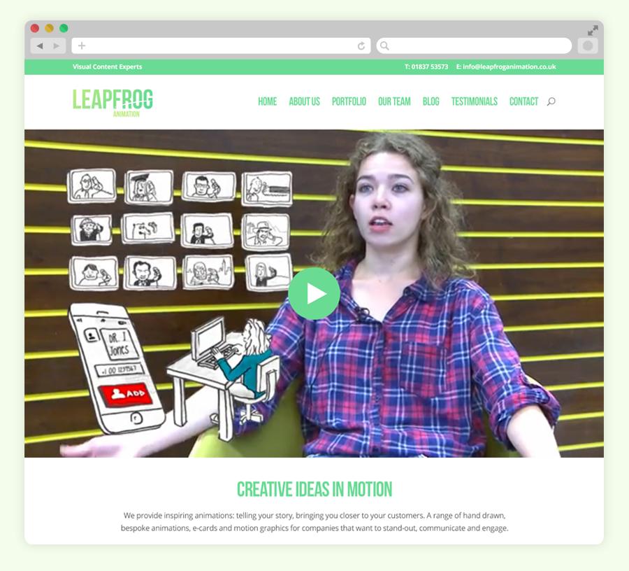 Leapfrog animation user interface design