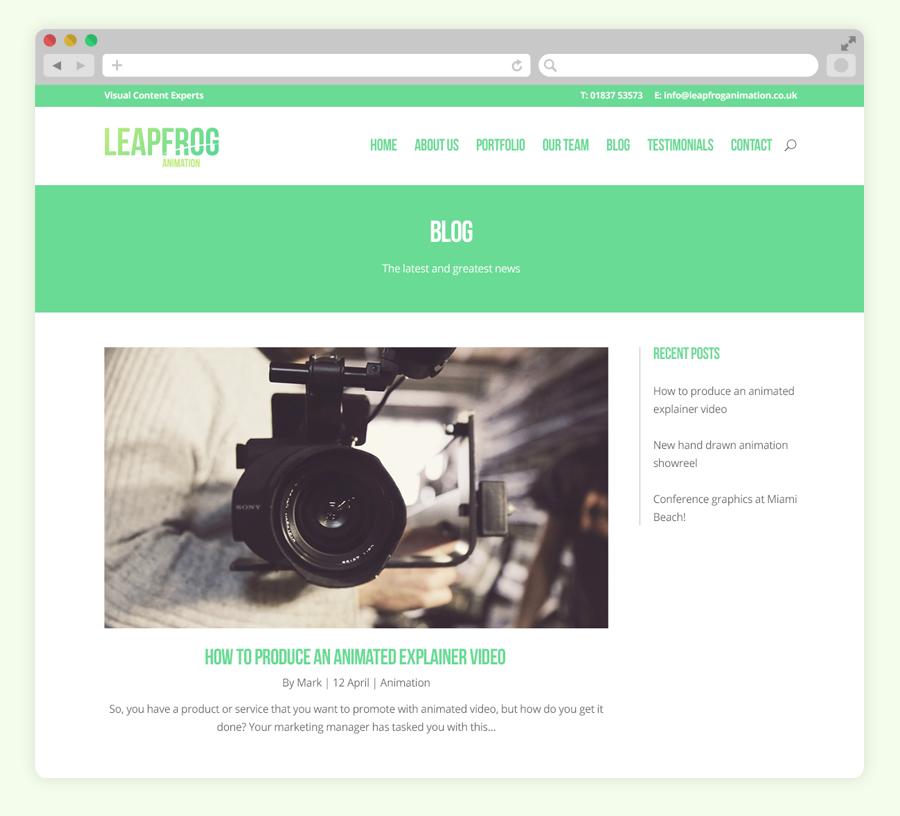Leapfrog user interface design